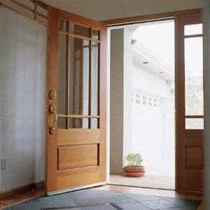 sidelight and door