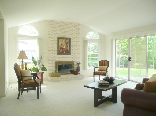 living room after professional home staging