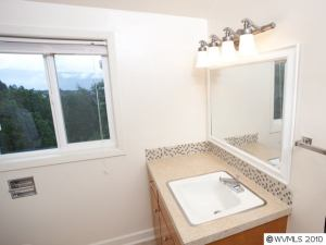 master bath after home staging updates