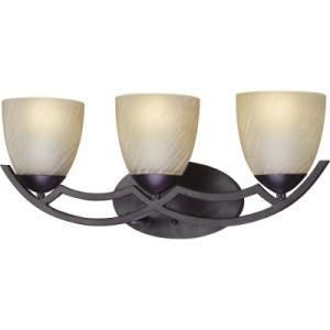 3 light bronze light fixtures