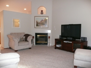 Neutral stylish carpet makes rooms feel fresh and new
