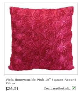 Ruffled Honeysuckle pillow from Lamps Plus