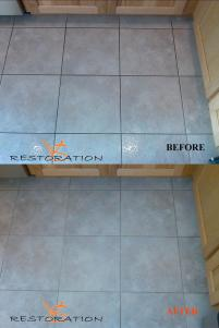 cleaning grout makes a huge improvement